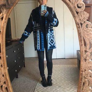 Oversized Fringe Sweater